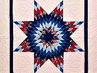 Blue Navy and Red Constellation Lone Star Throw