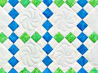 Blue and Green Nine Patch Crib Quilt