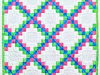 Tropical Irish Chain Crib Quilt
