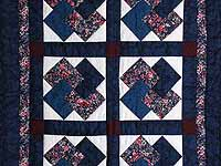 Navy and Burgundy Card Tricks Wall Hanging