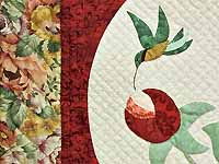 Red Rose Garden Wall Hanging