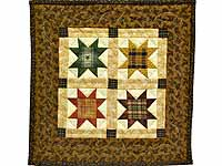 Ohio Stars Miniature Quilt