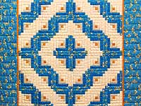 Blue and Gold Log Cabin Crib Quilt