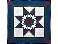 Amish Bright Lone Star Wall Hanging
