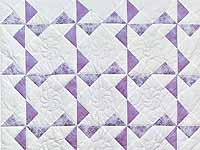 Lavender and Cream Pinwheel Crib Quilt