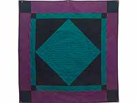 Extra Fine Teal and Purple Amish Center Diamond Wall Hanging