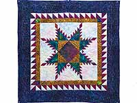 Batik Feathered Edge Star Wall Hanging