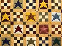 Homespun Stars and Nine Patch Throw