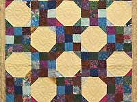 Green Country Style Snowball Crib Quilt