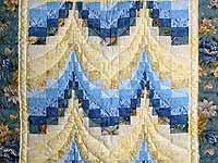 Blue & Yellow Bargello Wall Hanging