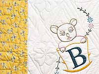 Bear BABY Embroidered Crib Quilt