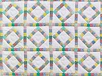 Pastel Diamond Postage Stamp Crib Quilt
