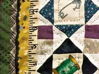Miniature Sewer's Treasure Quilt