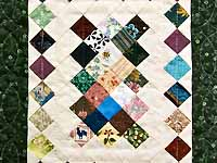 Miniature Diamond Postage Stamp Quilt