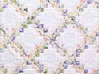 Lavender Willow and Cream Irish Chain Crib Quilt