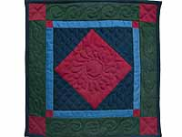 Mini Amish Center Diamond Quilt