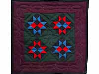 Miniature Amish Ohio Stars Quilt