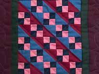 Miniature Amish Four Patch Quilt
