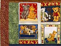 Teddy Bear Album Crib Quilt