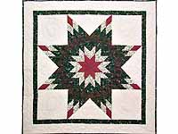 Rose and Dark Green Lone Star Wall Hanging