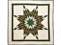 Dark Green and Brown  Lone Star Wall Hanging