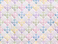 Pastels and Cream Nine Patch Crib Quilt