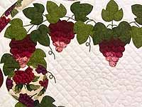 Burgundy Green and Cream Love in the Vineyard Wall Hanging