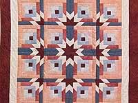 Burgundy and Rose Starburst Wall Hanging