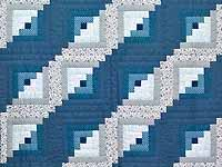 Blue and Navy Log Cabin Crib Quilt