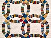 Fine Country Colors Double Wedding Ring Crib Quilt