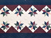 Navy and Burgundy Lone Star Runner