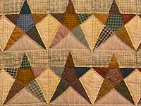 Plaid Homespun Stars Wall Hanging