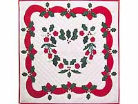 Red and Green Holly Heart Wall Hanging