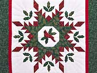 Christmas Cardinal  Feathered Star Wall Hanging