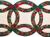 Holiday Double Wedding Ring Runner