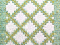 Blue and Golden Green Irish Chain Crib Quilt