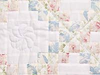 Pastel Pink and Blue Floral Irish Chain Crib Quilt