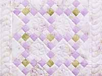 Lavender Green and Cream Floral Nine Patch Crib Quilt