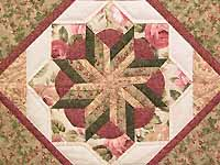 Rose and Sage Flowering Star Wall Hanging