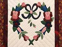 Rose and Multicolor Heart Wreath Wall Hanging