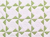 Green Polka Dot Pinwheel Crib Quilt