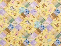 Pastel Railroad Crossing Crib Quilt