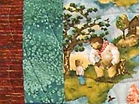 Teddy Bear Scenes Crib Quilt