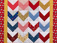 Multicolor Zig Zag Crib Quilt