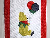 Party Bear Crib Quilt