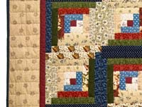 Country Colors Log Cabin Wall Hanging