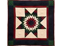 Miniature Indiana Amish Clay Lone Star Quilt