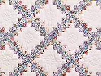 Blooming Irish Chain Crib Quilt