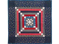 Blue Gray and Red Star Chain Wall Hanging