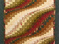 Green Red and Gold Bargello Wave Wall Hanging